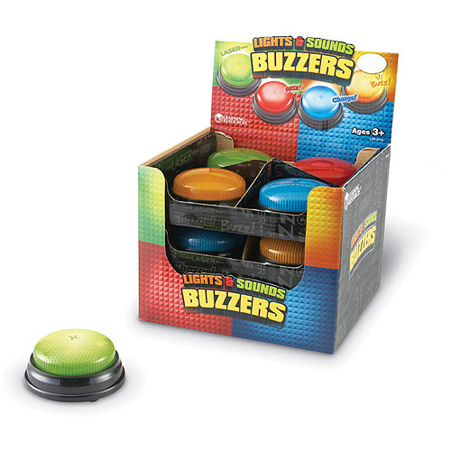 Lights and Sounds Buzzers, Pack of 12