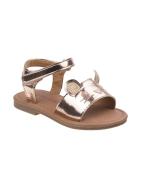 Laura Ashley O-LA81635NCHAM7 Baby Mouse Sandals for Toddler Girls, Champagne - Size 7