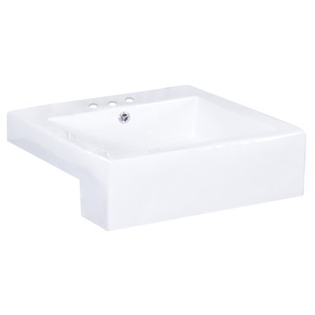 Semi Recessed Vessel Sink : American Imaginations Semi-Recessed Rectangle Vessel Bathroom Sink