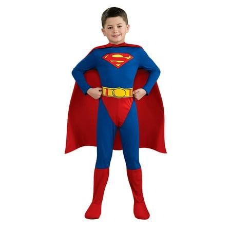 Superman Costumes For Teens (Superman Boys Standard Superhero Costume R882085 - Small)