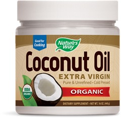 Organic Coconut Oil Nature's Way 16 oz Solid