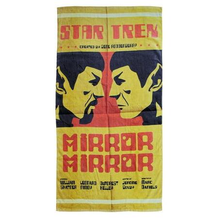 "Star Trek Spock Mirror Mirror 60""x30"" Beach Towel - image 1 de 1"