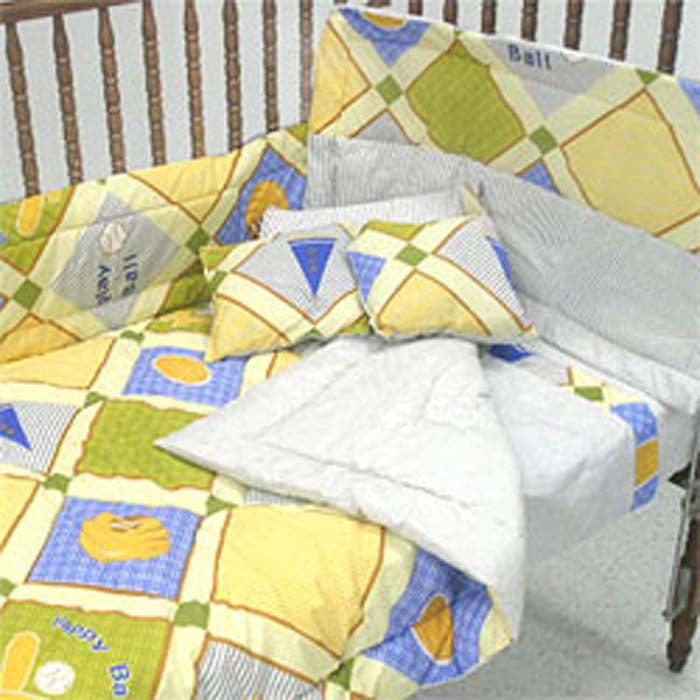 Football Baseball Toddler Bedding Crib Comforter Set