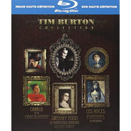 Tim Burton Collection ( Sweeney Todd / Charlie and the Chocolate Factory / Corpse Bride ) [ Blu-Ray, Reg.A/B/C Import - France