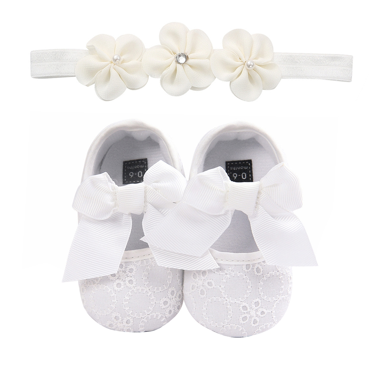 White and pink Shoes for Baby,baby shoes,newborn baby girl set,shoes/&headbands,baby gift girl Baby Shoes,baby headbands,For 0-6 Month Baby