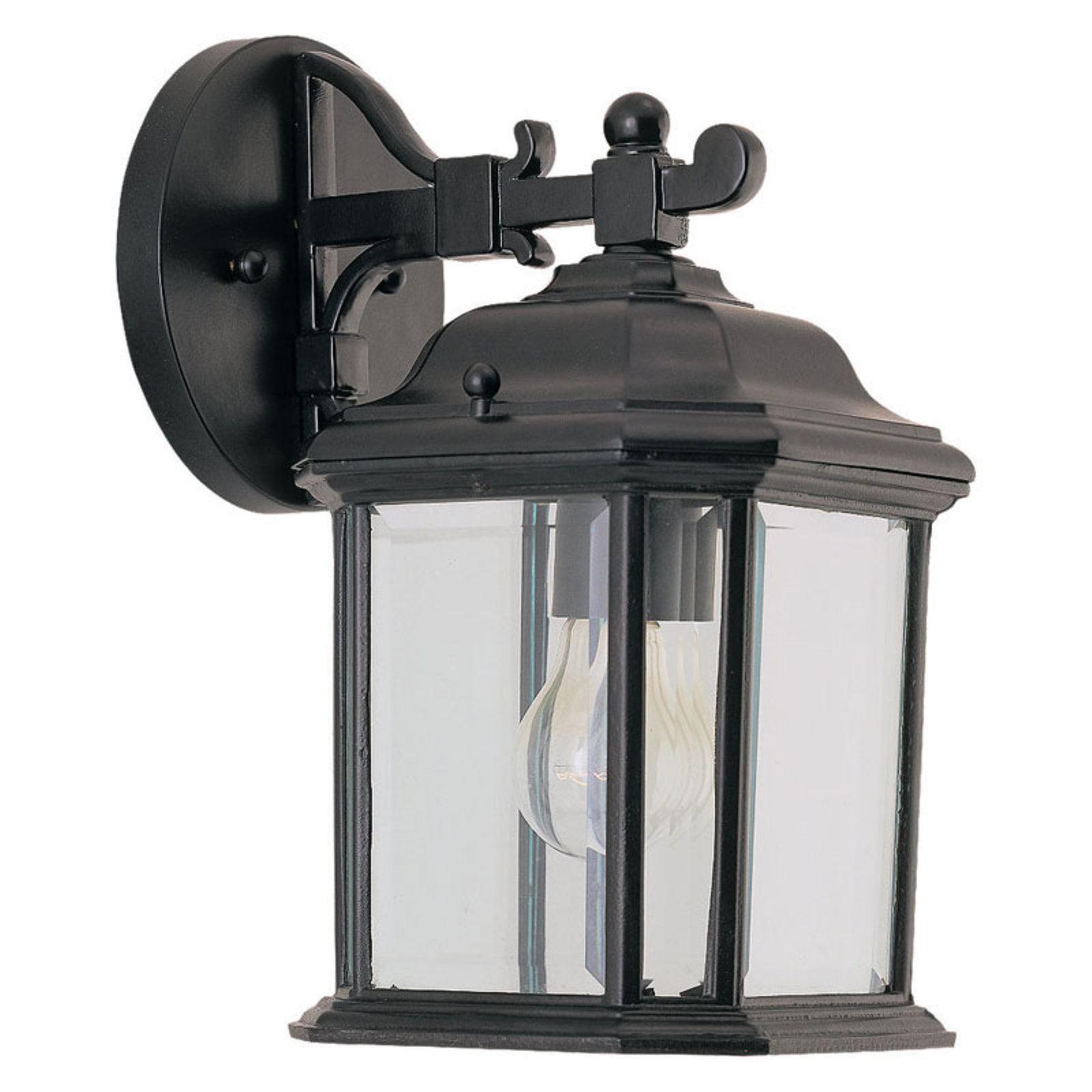 Sea Gull Kent Outdoor Hanging Wall Lantern - 11.25H in. Black