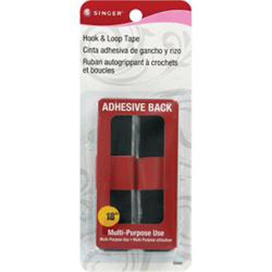 """Hook & Loop Adhesive Tape 3/4""""X18""""-Black"""