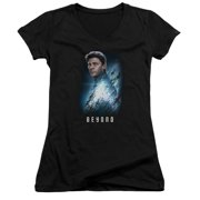Star Trek Beyond Bones Poster Juniors V-Neck Shirt