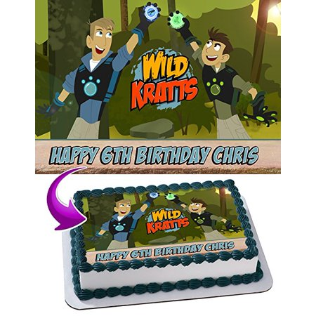 Wild Kratts Edible Image Cake Topper Personalized Icing Sugar Paper A4 Sheet Frosting Photo 1 4 For