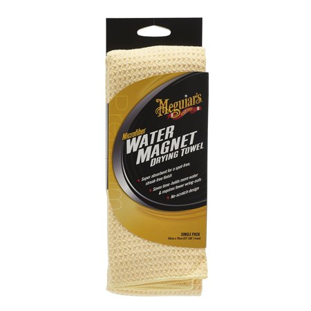 Meguiar's X2000 Water Magnet Microfiber Drying Towel, Greatly reduces drying time with less wring-outs By