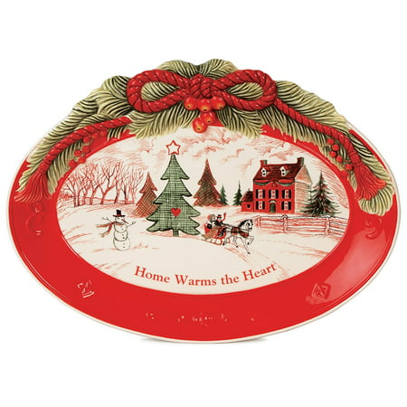 Home Warms The Heart Collection, Holiday Sentiment Tray, Fitz and Floyd's ''Home Warms the Heart'' Sentiment tray is perfect for serving cookies and makes a.., By Fitz and Floyd,USA (Fitz And Floyd Serving Tray)
