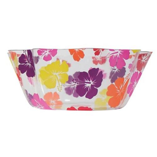 Creative Converting 054072 Luau 8 inch Fluted Plastic Bowl - Case of 12