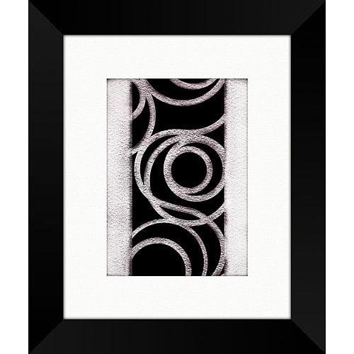Black and White Swirls Framed Art, I
