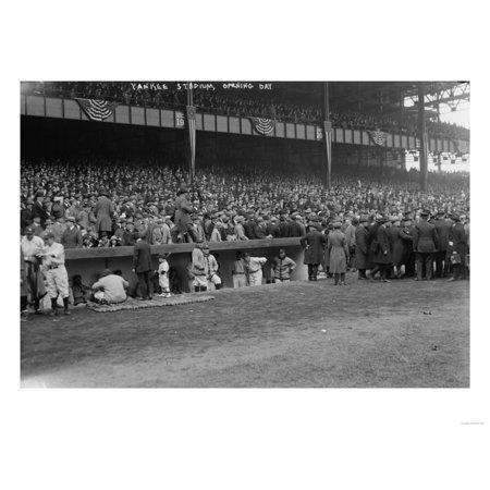 Yankee Stadium Musical Globe - Yankee Stadium Baseball Field Opening Day Photograph - New York, NY Print Wall Art By Lantern Press
