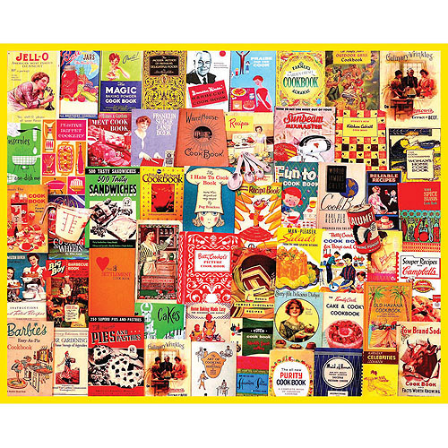 White Mountain Puzzles Cookbooks Collage Puzzle, 1000 Pieces