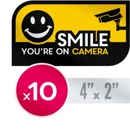 Quality Clever UV Resistant, No Fade Security CCTV Warning Sticker - Smile You