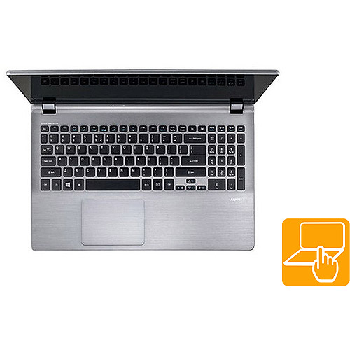 """Acer Cold Steel 15.6"""" Laptop PC with Intel Core i7-4500 Processor, 8GB Memory, 750GB SATA + 20GB SSD Hard Drive, Touchscreen and Windows 8"""