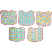 Making Miracles 5-Pack Terry Knit Feeding Bibs, Pink