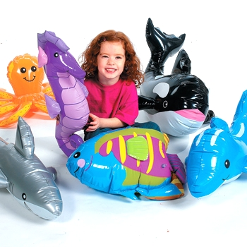 Ocean Friends Inflatable Under The Sea Giant Animals (6 ct)