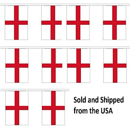 10' England St George Cross String Flag Party Bunting Has 10 English 6