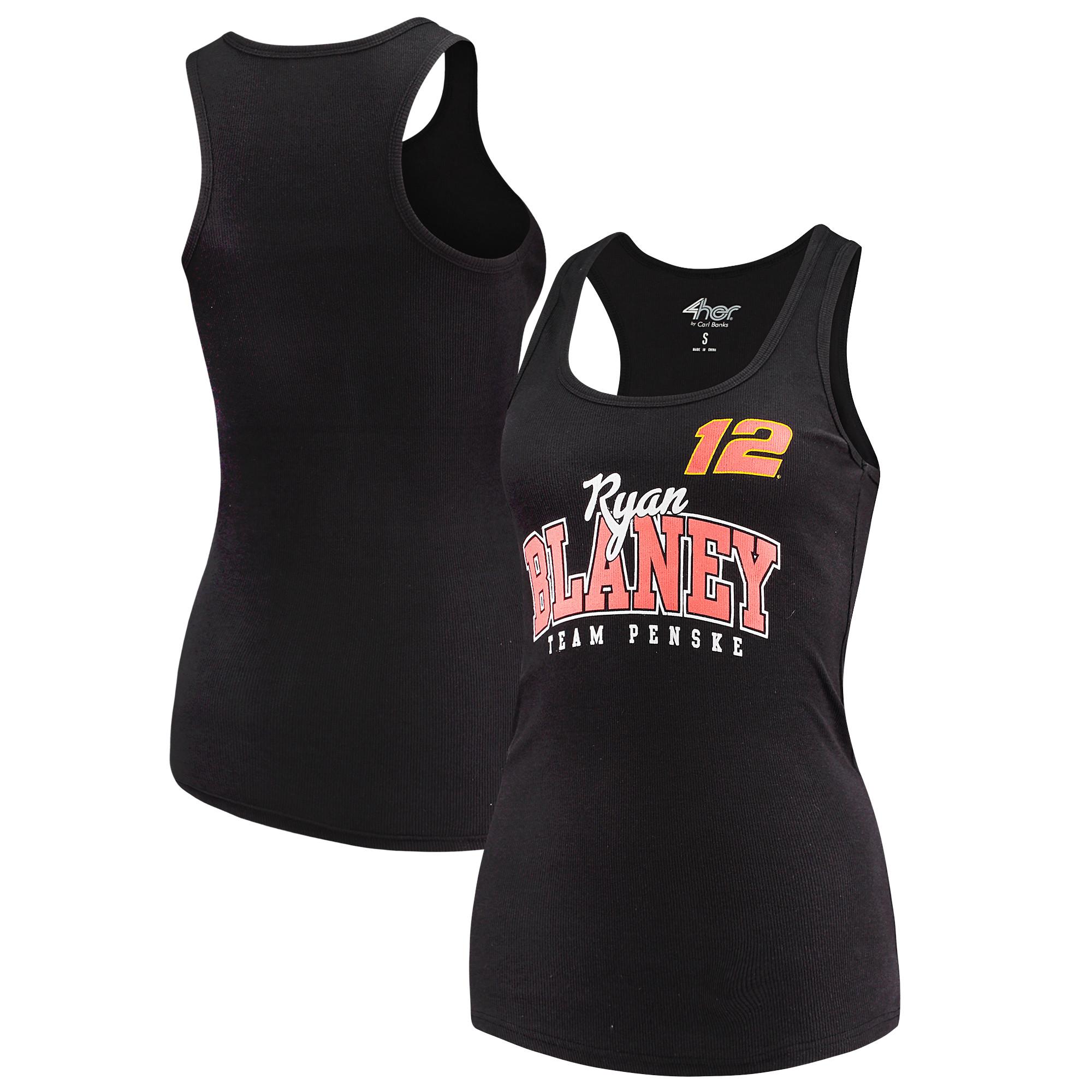 Ryan Blaney G-III 4Her by Carl Banks Women's Pre-Season Tank Top - Black