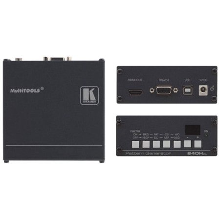 Kramer 840HXL HDMI Video Test Pattern Generator w/7-Yr - Hdtv Test Pattern Generator