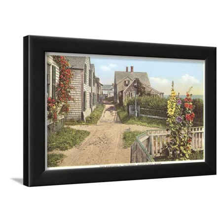 Saltbox Houses, Siasconset, Nantucket, Massachusetts Framed Print Wall Art