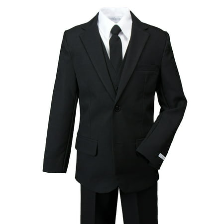 Spring Notion Boys' Modern Fit Dress Suit Set Black (Boys Zoot Suits)