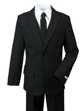 Spring Notion Boys' Modern Fit Dress Suit Set Black