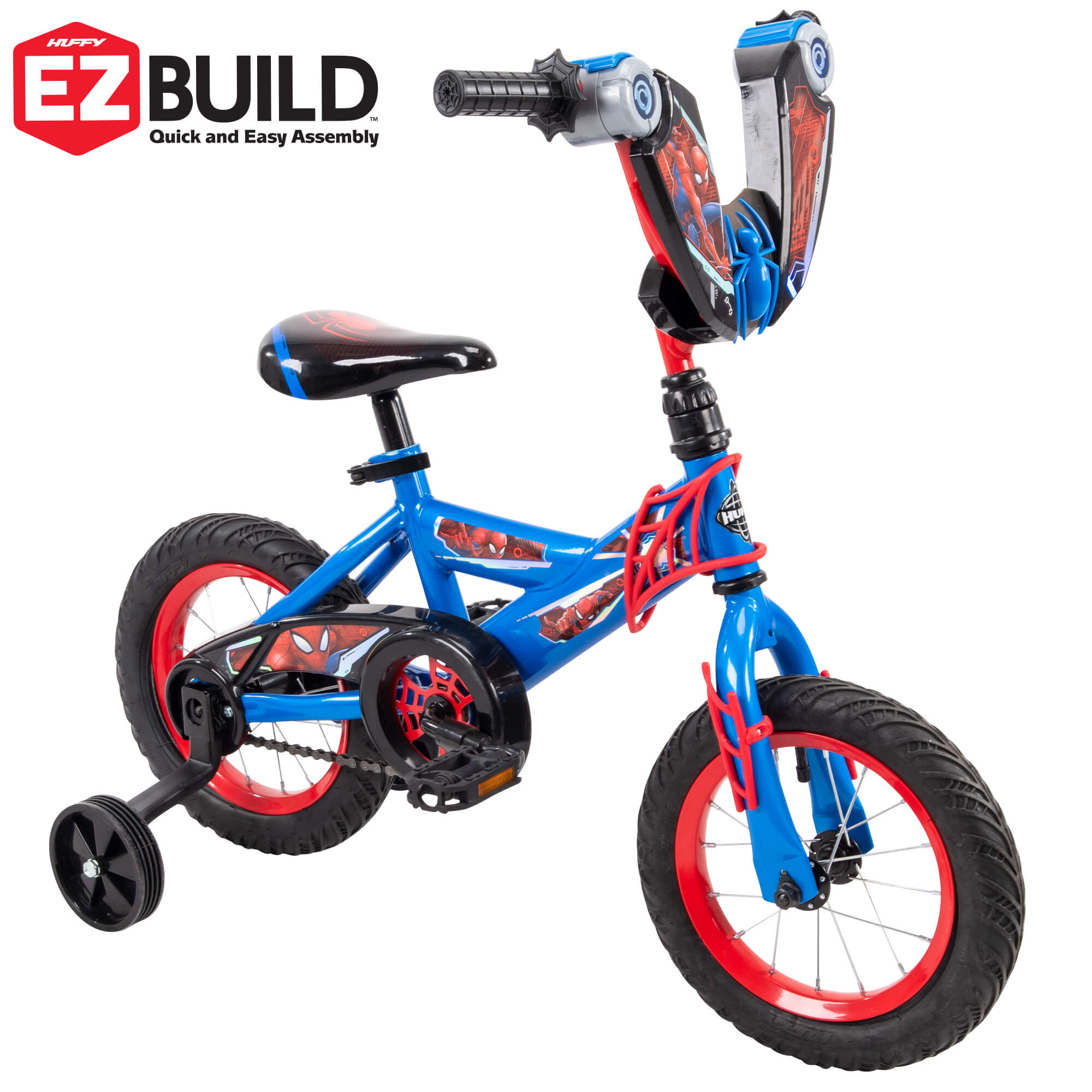 "Marvel Spider-Man 12"" Boys' EZ Build Bike for Kids by Huffy"