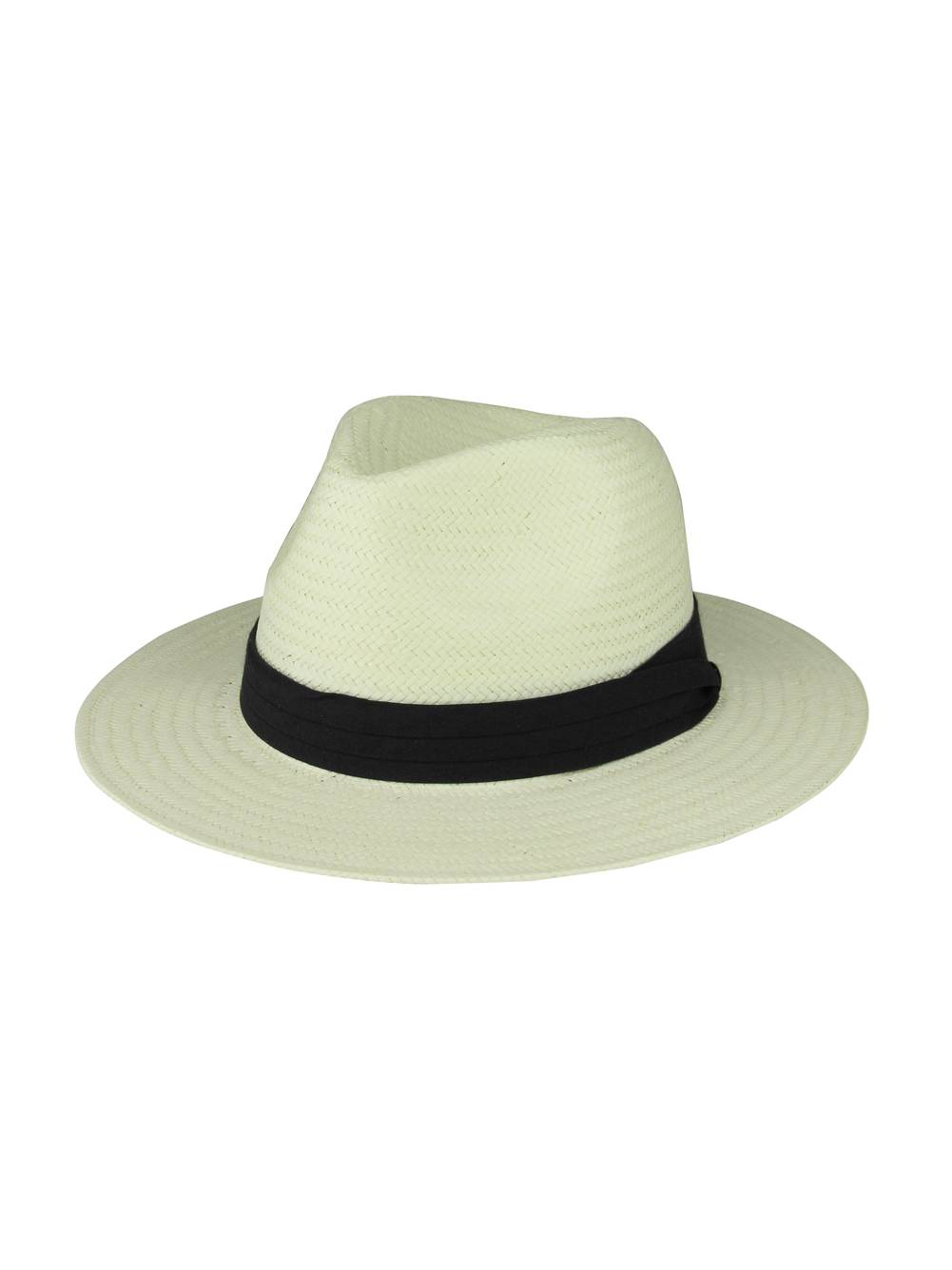 Toyo Paper Straw Fedora Hat - Cream Denim afc736e29bac