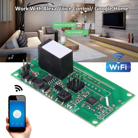 10A Wifi Smart Switch Modified Part Voice Control For Alexa Echo Google Home - image 5 de 7