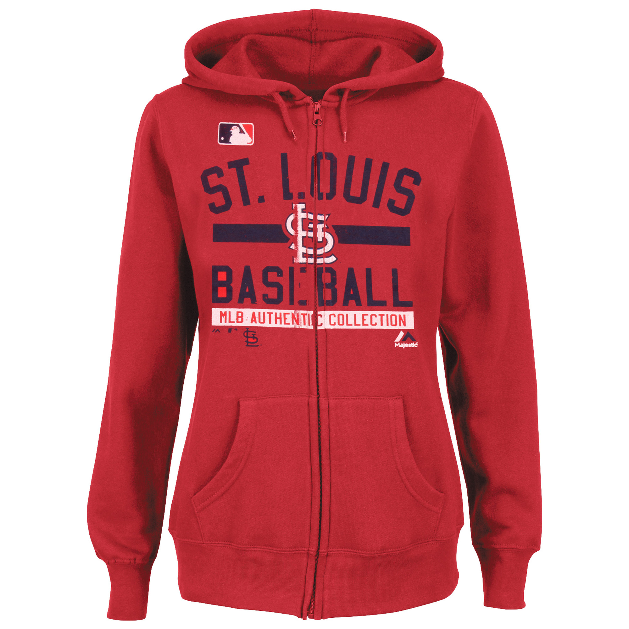 St. Louis Cardinals Majestic Women's Team Property Authentic Collection Full-Zip Hoodie - Red