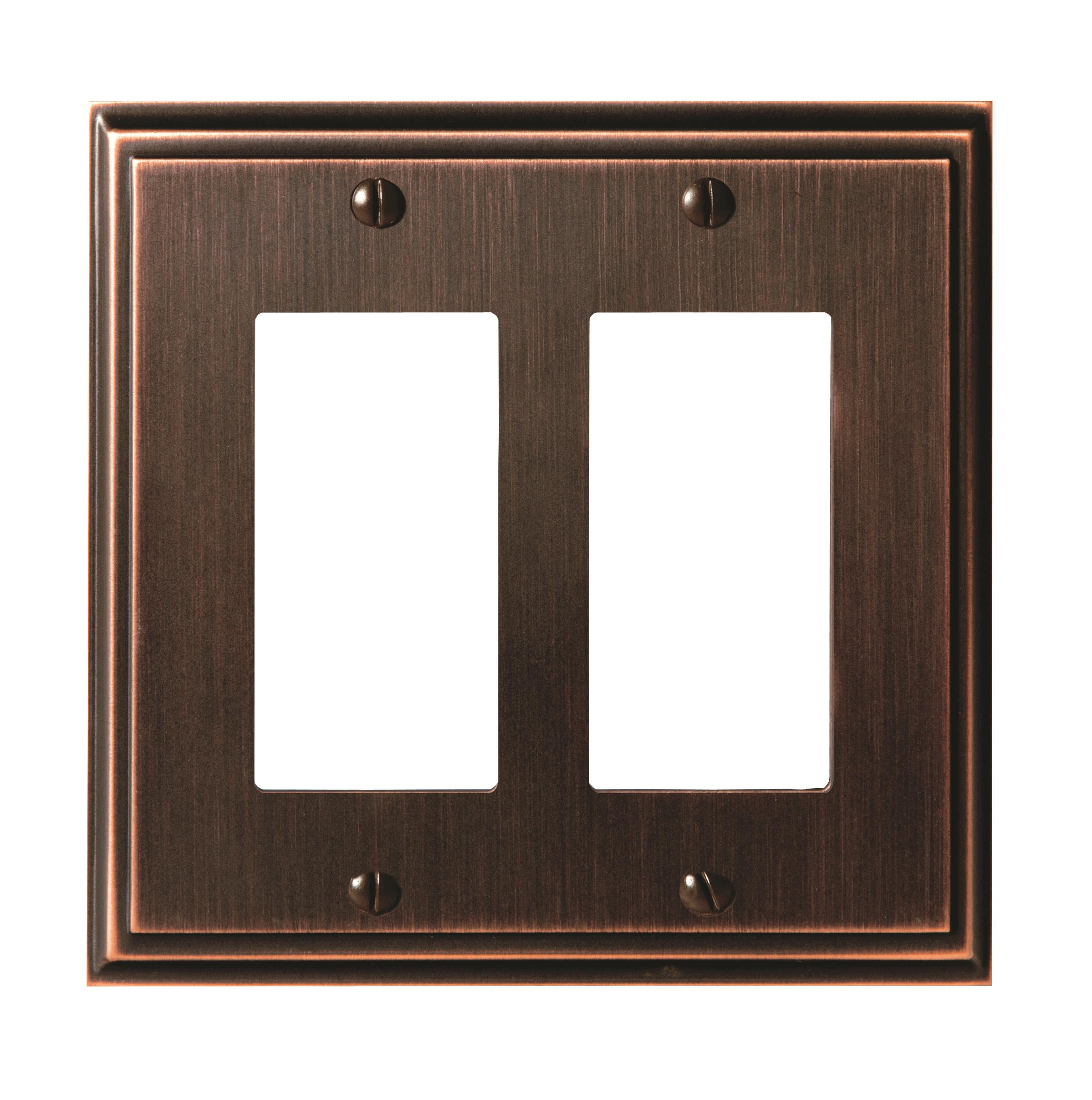 Mulholland 2 Rocker Oil-Rubbed Bronze Wall Plate
