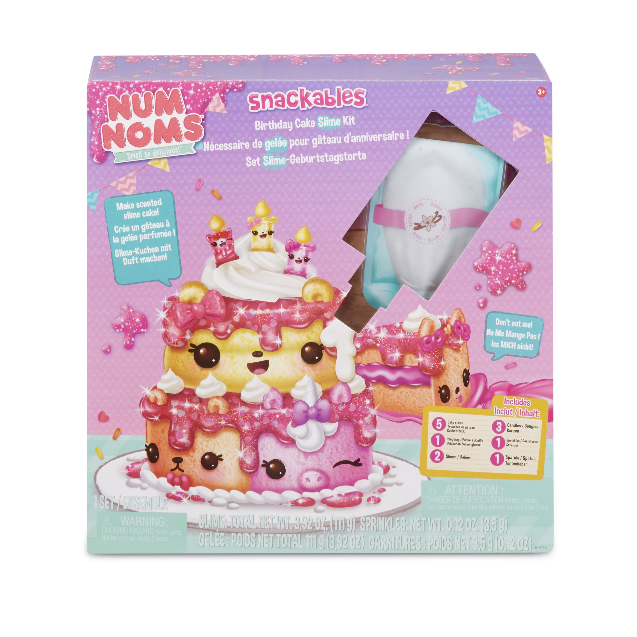 Incredible Num Noms Snackables Birthday Cake Slime Kit With Slime And Funny Birthday Cards Online Drosicarndamsfinfo