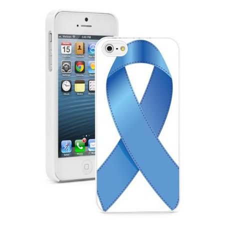 Apple iPhone 6 6s Hard Back Case Cover Blue Child Abuse Awareness Ribbon (White) Child Abuse Blue Ribbons