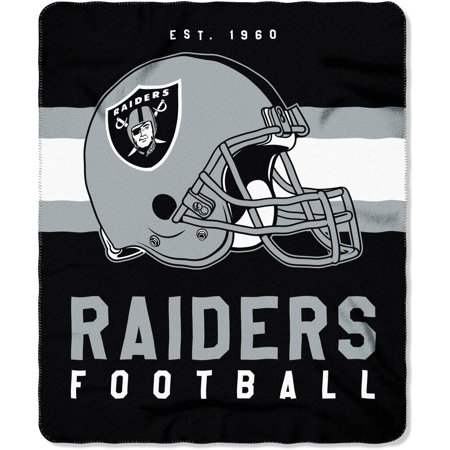 Nfl Oakland Raiders  Singular  50  X 60  Fleece Throw