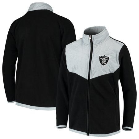 Youth Black/Gray Oakland Raiders Polar Full-Zip Jacket