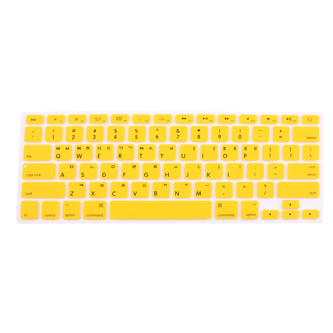 "Unique Bargains Korean Silicone Keyboard Skin Cover Yellow for Apple Macbook Air 13""15""17"""
