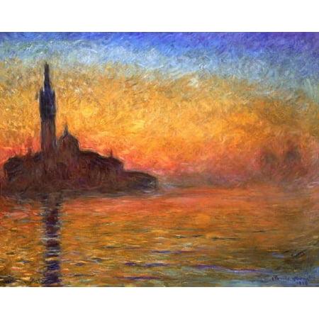 Claude Monet - Sunset in Venice Claude Monet Sunset In Venice