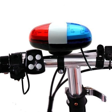Police Car Emergency Lights (York'Street 6 LED 4 Sounds Police Car Light Horn Bell Ring For Bike Bicycle)