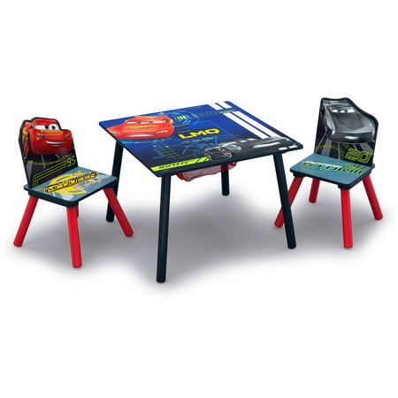 Disney Pixar Cars Table & Chair Set with Storage - Delta Children