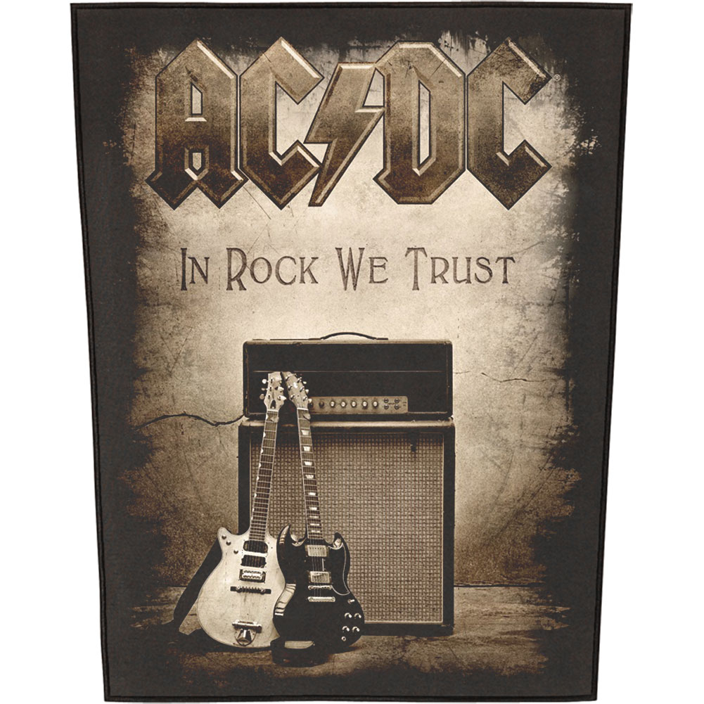 AC/DC Men's In Rock We Trust Back Patch Black