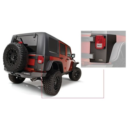 Black Jeep Wrangler (Bushwacker 07-18 Jeep Wrangler Trail Armor Rear Corners - Black)