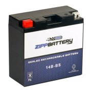 Zipp Battery YT14B-BS (14B-BS 12 Volt,12 Ah, 135 CCA) Power Sports Battery replaces Cyt14b-bs Gt14b-4 M624b4