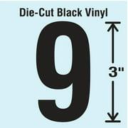 STRANCO INC DBV-3-9-10 Die Cut Number Label, 9, 10 Cards,PK10