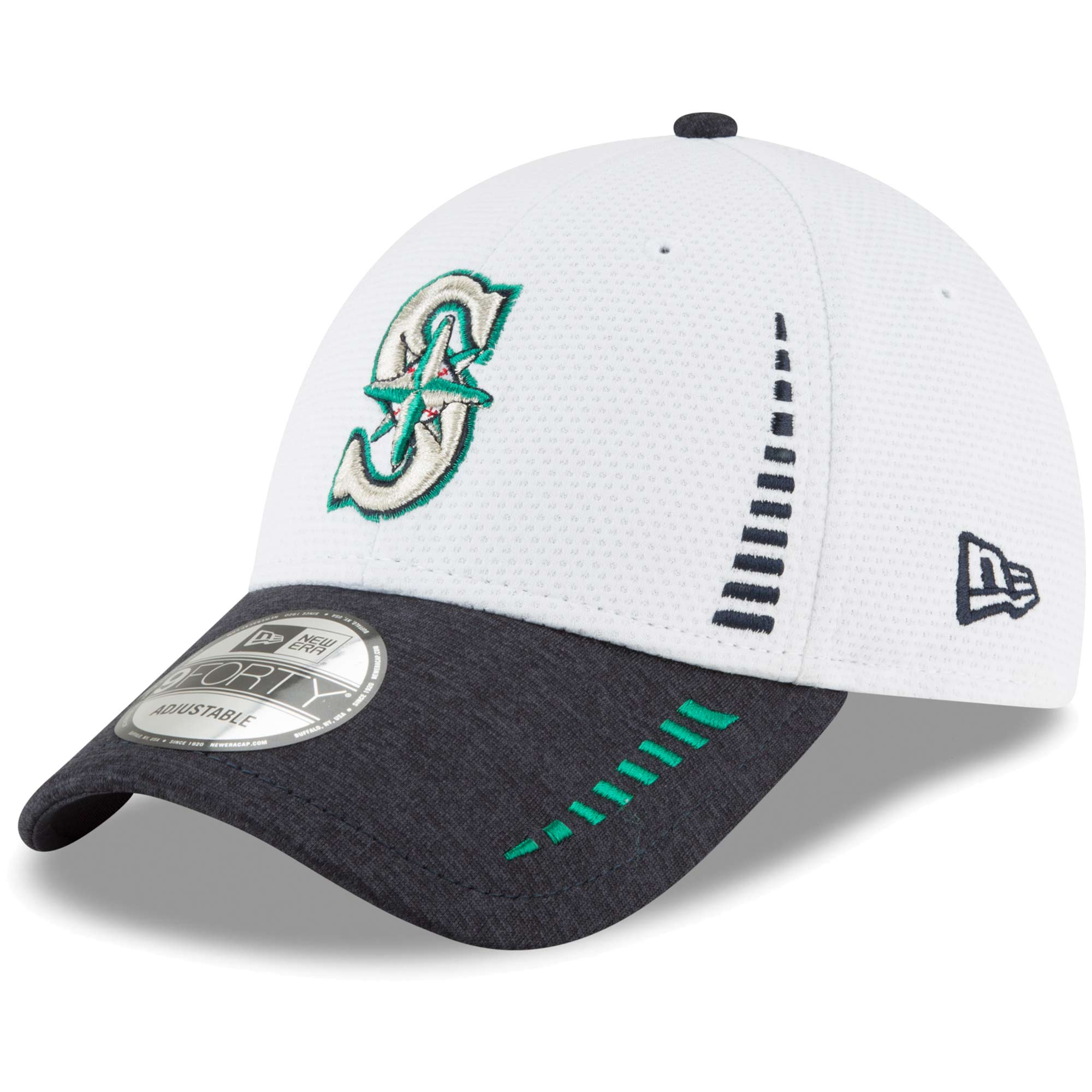 Seattle Mariners New Era Speed Tech 9FORTY Adjustable Hat - White - OSFA