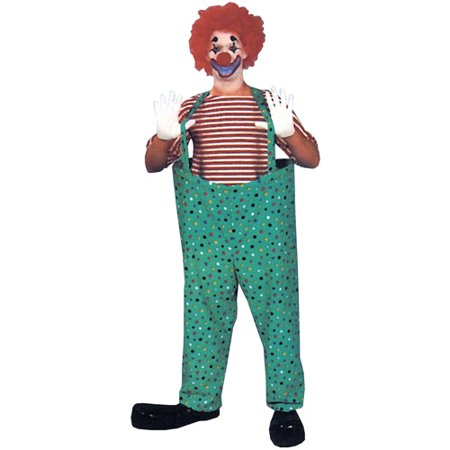Hooped Clown Adult Halloween Costume Pant Set - Mens Pleather Pants Halloween Costume