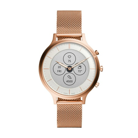 Fossil Hybrid Smartwatch HR - Charter Rose Gold Stainless Steel Mesh
