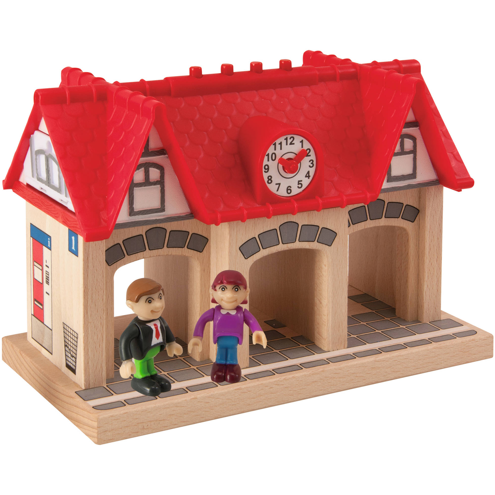Eichhorn 4-Piece Wooden Soundstation for Trains Sets by Eichhorn